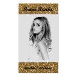 Gold Glitter Model Actress Singer Business Cards