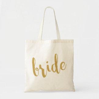 Gold Glitter Modern Text Design-Bride