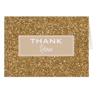 Gold Glitter Note Card