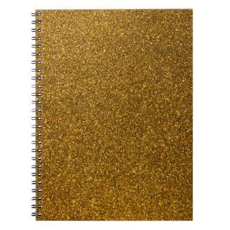 Gold Glitter Notebook