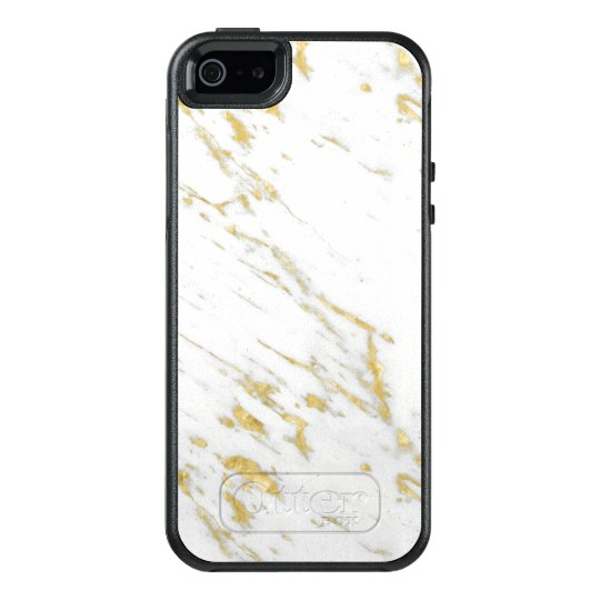 Gold Glitter On White Marble OtterBox iPhone 5/5s/SE