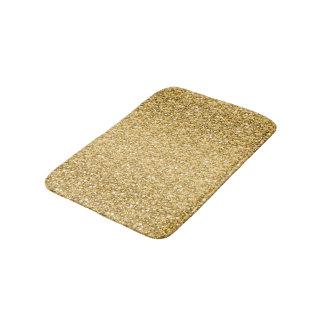 Gold Glitter Pattern Bath Mats