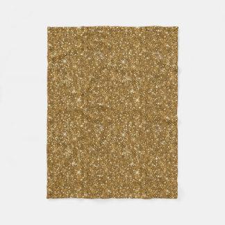 Gold Glitter Pattern ID144 Fleece Blanket