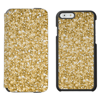 Gold Glitter Pattern Incipio Watson™ iPhone 6 Wallet Case
