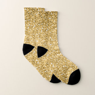 Gold Glitter Pattern With Black And White 1