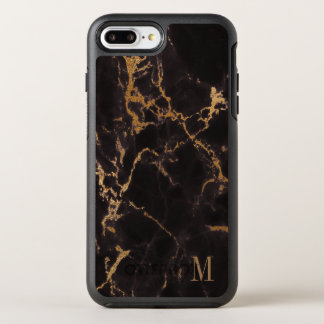 Gold Glitter Pattern With Monogram OtterBox Symmetry iPhone 8 Plus/7 Plus Case