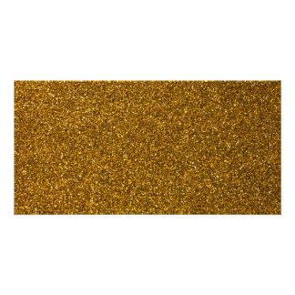 Gold Glitter Photo Cards