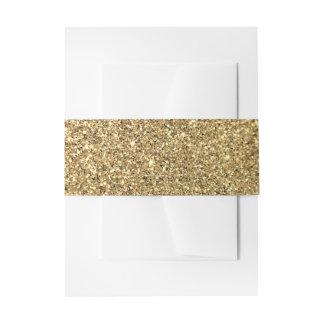 Gold Glitter Photo Invitation Belly Band