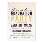 Gold Glitter Polka Dot Graduation Party Invitation 13 Cm X 18 Cm Invitation Card