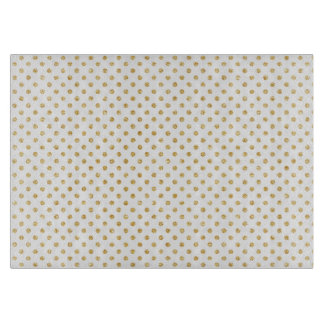 Gold Glitter Polka Dots Pattern Cutting Board