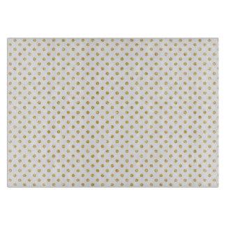 Gold Glitter Polka Dots Pattern Cutting Boards