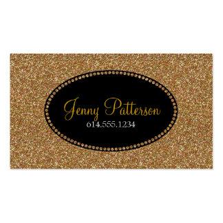Gold Glitter Pretty Elegant Girly Business Cards