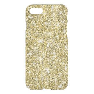 Gold Glitter Print Chic Uncommon iPhone 7 Case