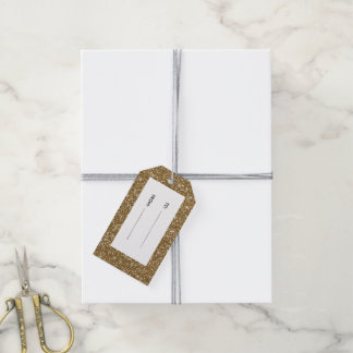 Gold Glitter Printed Gift Tags