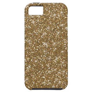 Gold Glitter Printed iPhone 5 Case