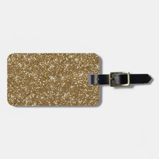 Gold Glitter Printed Luggage Tag