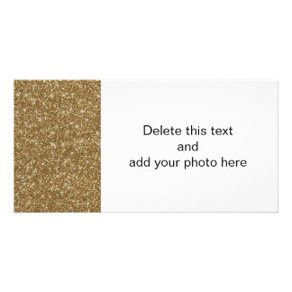 Gold Glitter Printed Personalized Photo Card