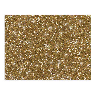 Gold Glitter Printed Postcard