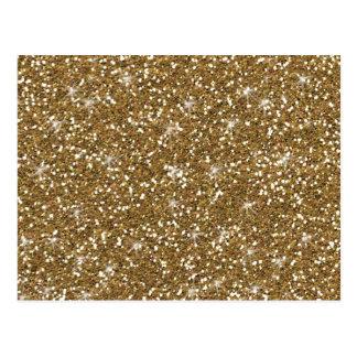 Gold Glitter Printed Postcard