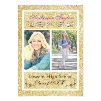 Gold Glitter Purple Grad Announcement