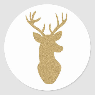 Gold glitter reindeer stickers