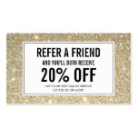 Gold Glitter Salon Referral Card Pack Of Standard Business Cards