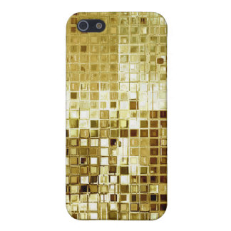 Gold Glitter Sequins Look iPhone 4 Case