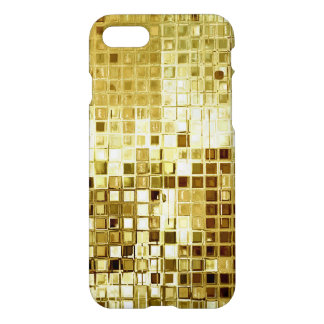 Gold Glitter Sequins Look iPhone Case