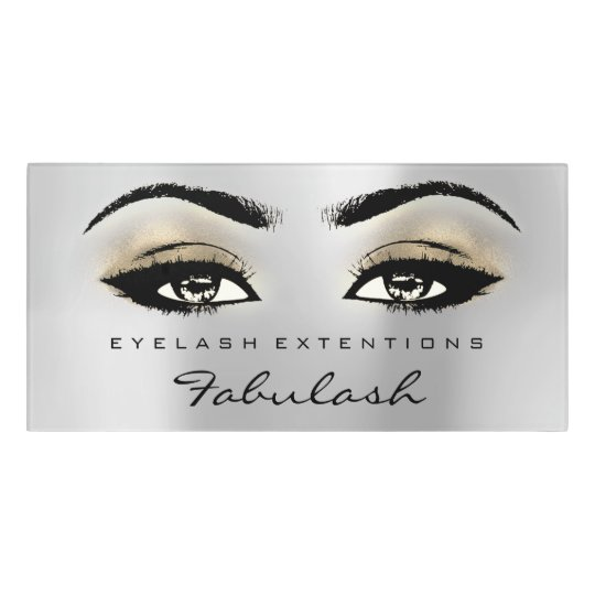 Gold Glitter Silver Grey  Beauty Salon Lash Makeup Door Sign
