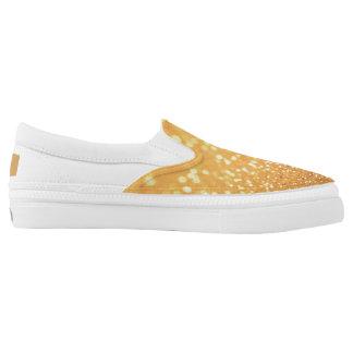 Gold Glitter Slide Ons Slip On Shoes