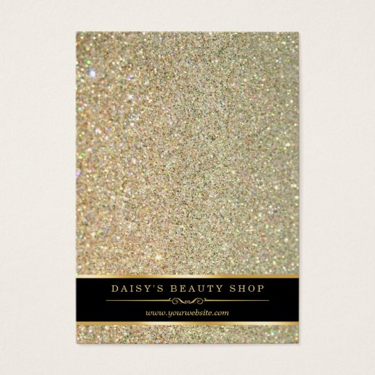 Gold Glitter Sparkle Jewellery Earring Display Business Card