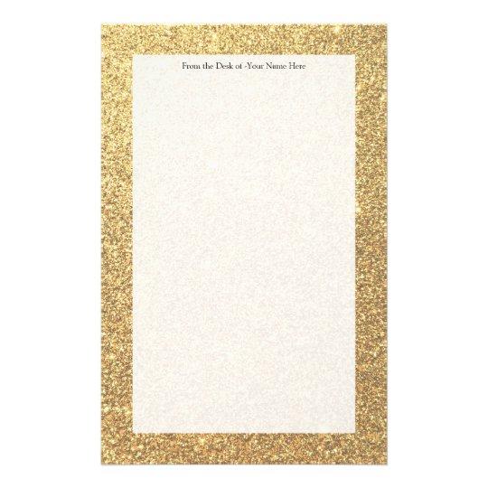 Gold Glitter Sparkle Pattern Background Stationery