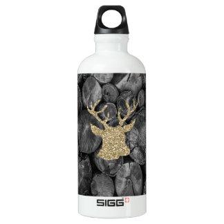 Gold Glitter Stag/Deer Wood Logs SIGG Water Bottle