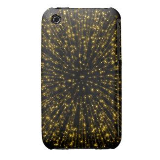 Gold Glitter Starburst Sunburst Firework Sparkle iPhone 3 Covers