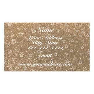 Gold glitter stars pack of standard business cards