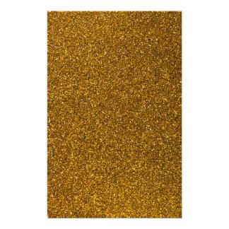 Gold Glitter Stationery