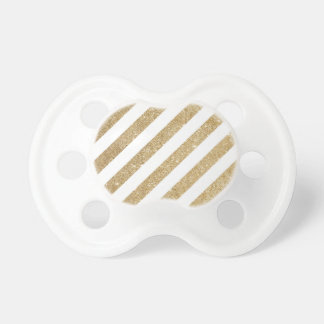 Gold Glitter Stripe Glam Pacifier
