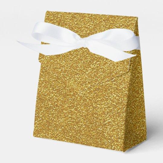 Gold Glitter Texture Favour Box
