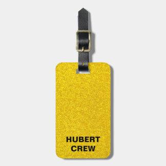 Gold glitter texture luggage tag