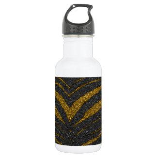 Gold Glitter Zebra Stripes 532 Ml Water Bottle