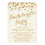 Gold Glittering Confetti Bachelorette Party Invite
