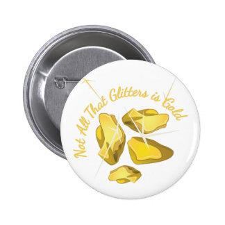 Gold Glitters 6 Cm Round Badge