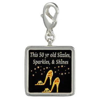 GOLD GLITTERY 50TH BIRTHDAY SHOE QUEEN