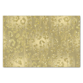 Gold Glittery Leopard Print Tissue Paper