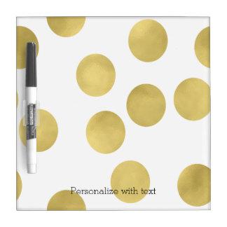 Gold Glitz Dots Dry Erase Board