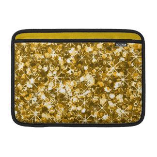 Gold glitz glamour macbook sleeve