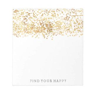 Gold Glitzy Confetti Notepad