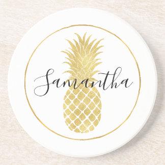 Gold Glitzy Pineapple Coaster