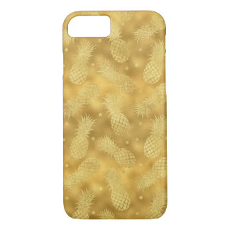 Gold Glitzy Pineapples iPhone 8/7 Case