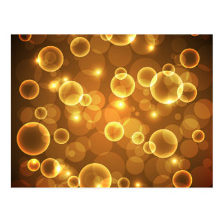 Gold Golden Bubble Light Art Postcard